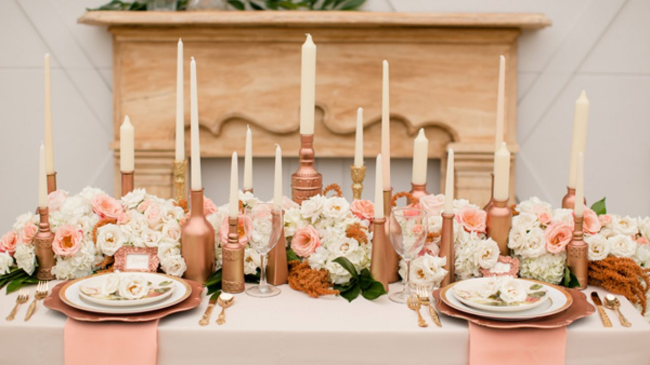 Rose Gold Wedding Ideas |