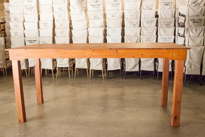 Ft Farm Table With Tall Legs Walnut Finish Classic Party - Tall farm table