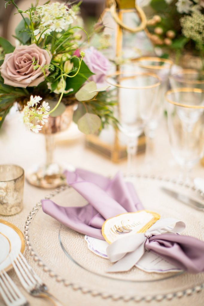 Beaded Charger, Purple Wedding, Richmond, Virginia 2