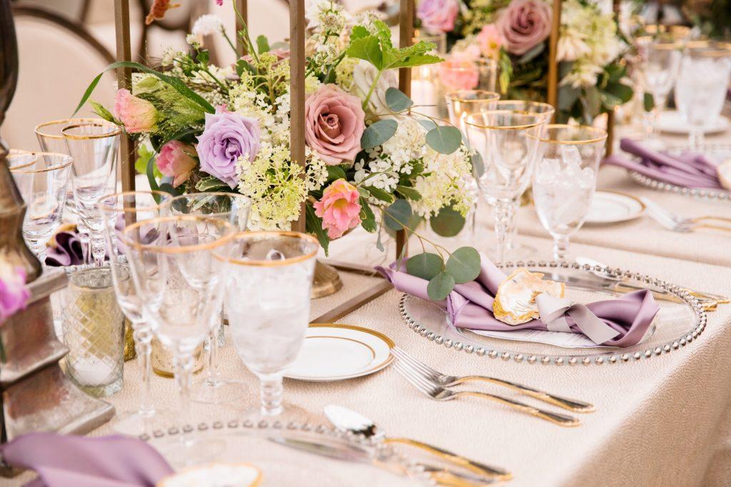 Beaded Charger, Purple Wedding, Richmond, Virginia 5
