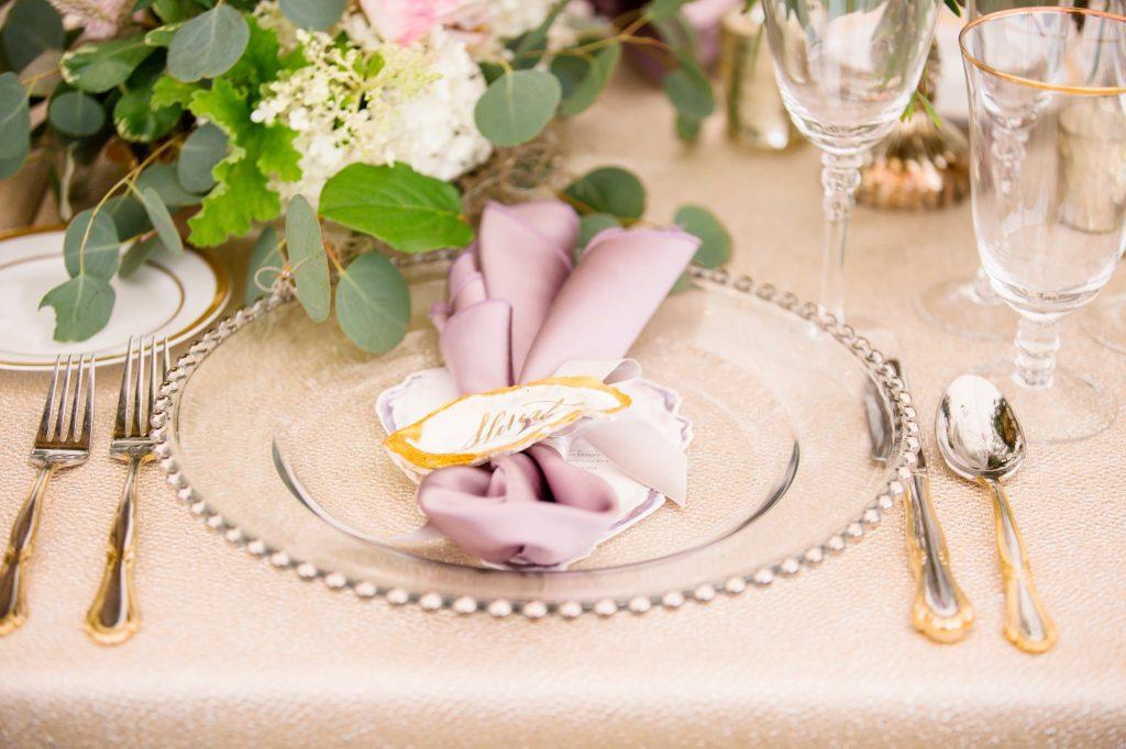 Beaded Charger, Purple Wedding, Richmond, Virginia 6