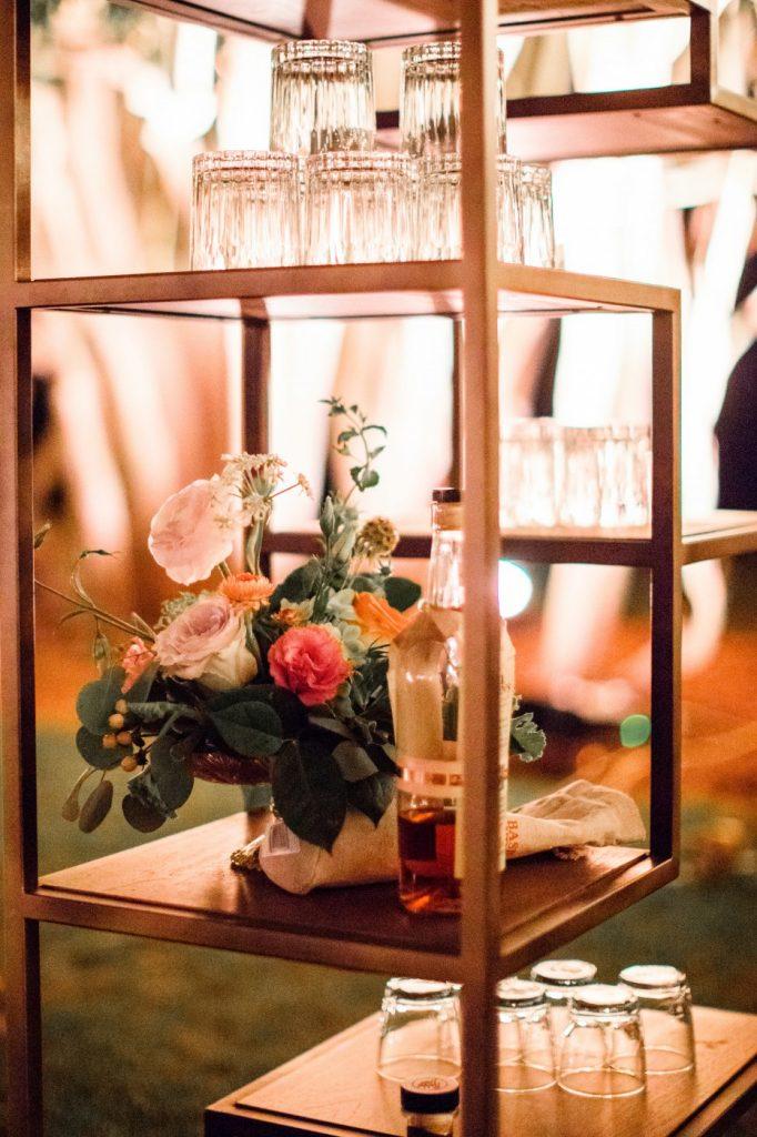 Glassware, Waterfront Wedding, Richmond, Virginia