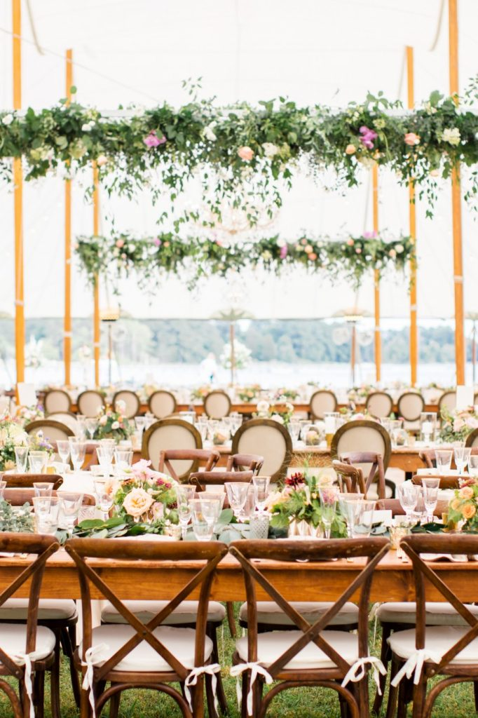 Mahogany X Back Chairs, Wedding, Tent, Richmond, Virginia 3