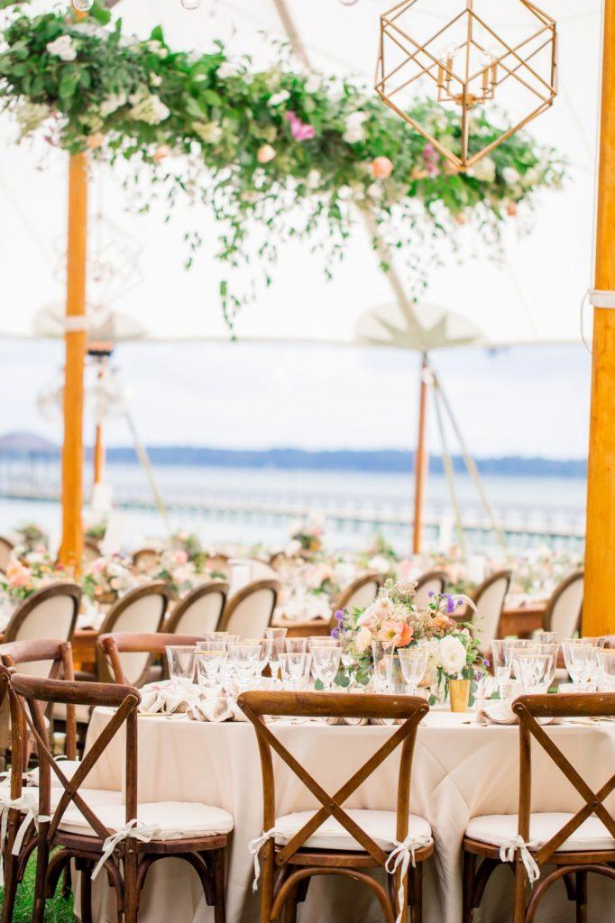 Mahogany X Back Chairs, Wedding, Tent, Richmond, Virginia 4