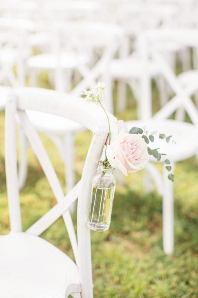 White X Back Chairs, Waterfront Wedding, Richmond, Virginia 3